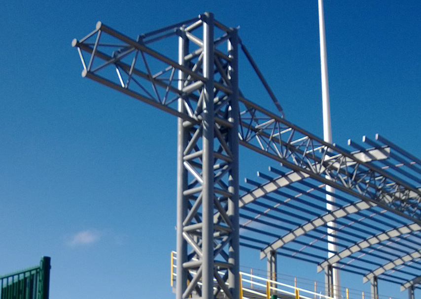 Steel Truss Frame Structure