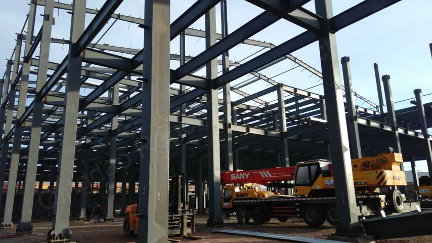 steel structure factory building installation