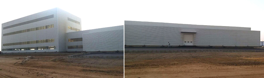 Saudi Arabia steel structure plant project finished installation