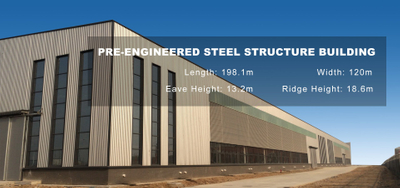 Pre-Engineered Steel Building - Industrial Heavy Steel Structure Factory Building