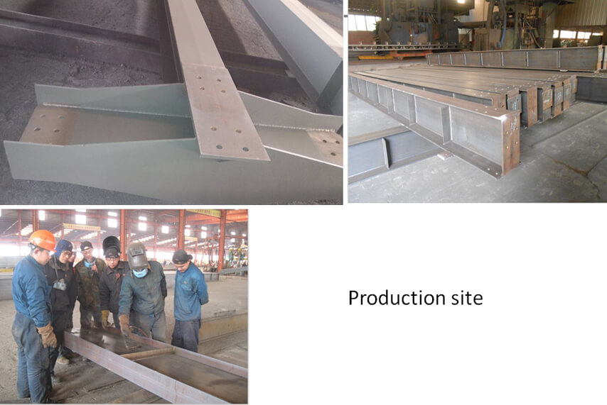 Saudi Arabia steel structure plant project production site