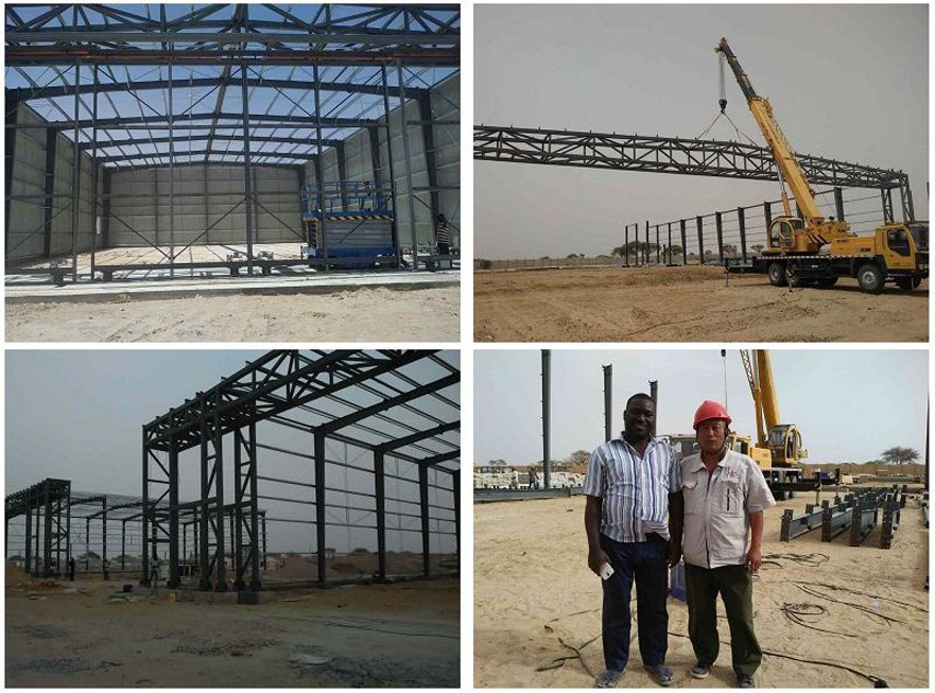 space frame hangar construction