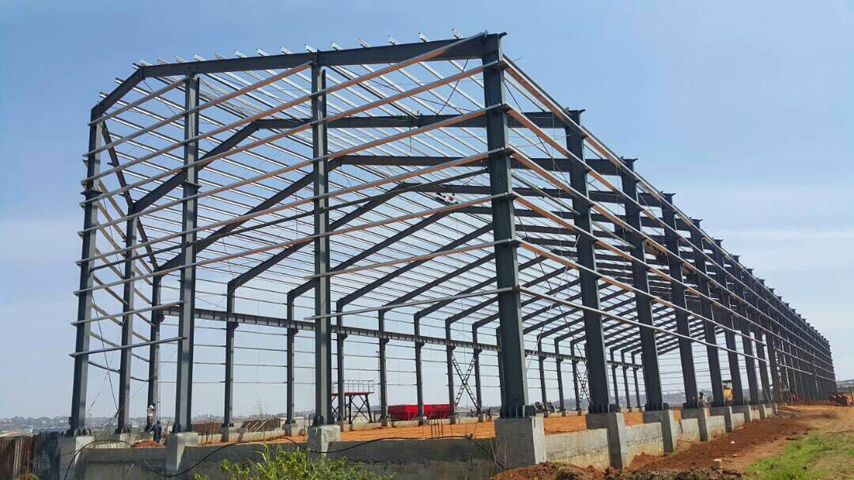 Steel Structure Frame of Prefabricated Warehouse