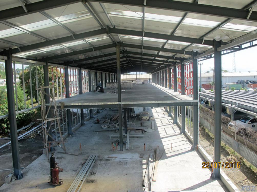 Steel Frame Structure of warehouse and office