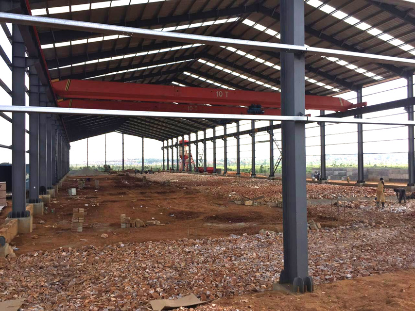 Prefabricated Steel Structure Warehouse Project in Uganda