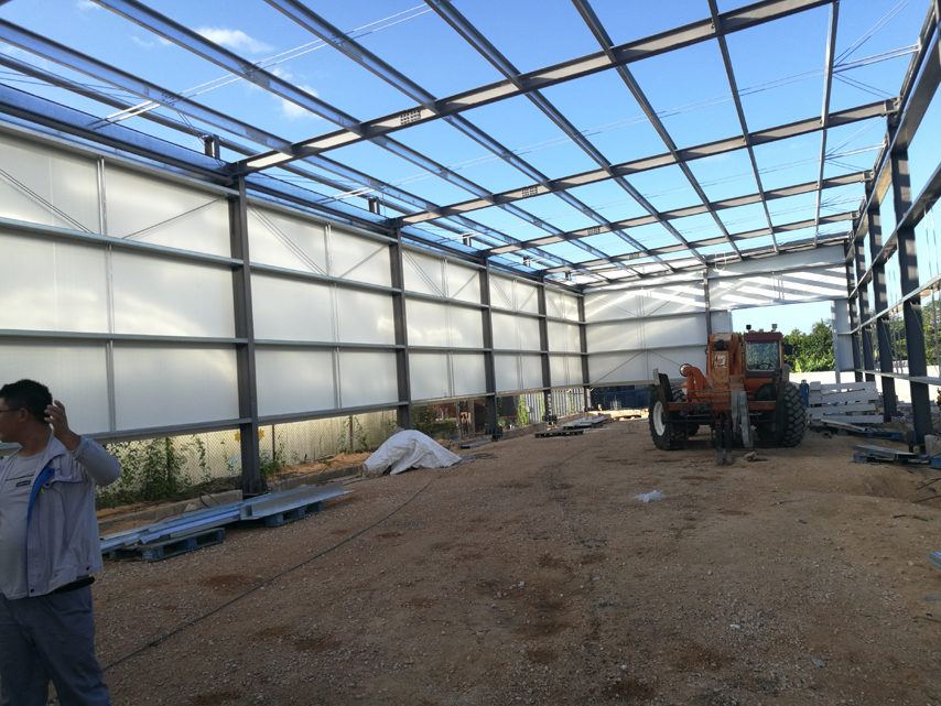 Steel Structure Bakery House Installation