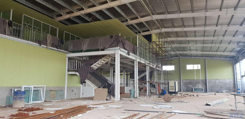 Inside of Kenya Steel Structure Car Showroom Project