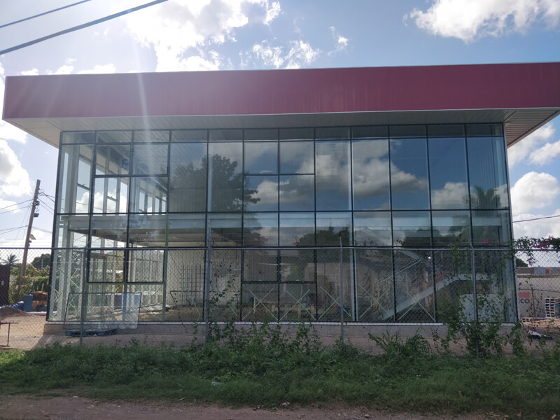 Steel Structure Prefab Cafe Shop Building