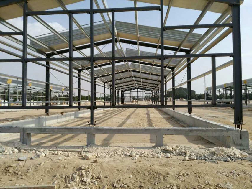 steel frame of chicken house