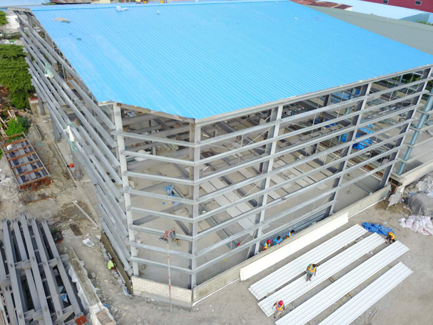 Maldives steel structure warehouse